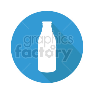 milk bottle on circle background vector clipart clipart. Commercial use image # 416206