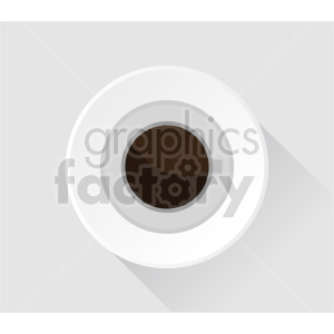coffee cup on plate with background vector clipart clipart. Commercial use image # 416222