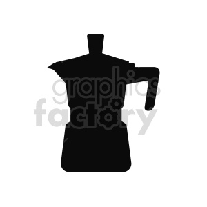coffee pot silhouette vector clipart clipart. Commercial use image # 416265