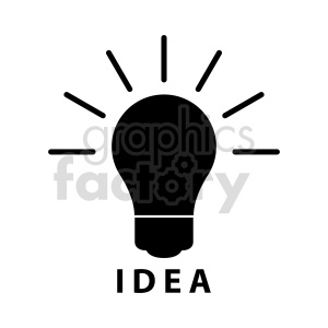 lightbulb idea vector icon clipart. Commercial use image # 416375