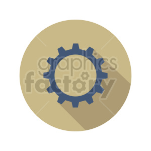 gear vector icon clipart. Commercial use image # 416445