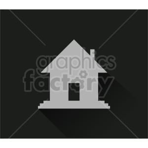 house shape vector icon clipart. Commercial use image # 416500