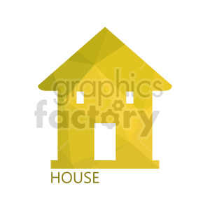 yellow house vector icon clipart. Commercial use image # 416505