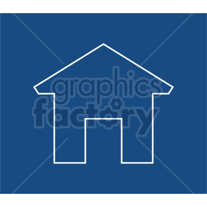 house outline vector icon clipart. Commercial use image # 416519