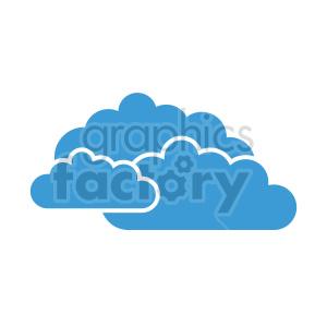 clipart - triple cloud vector clipart icon.