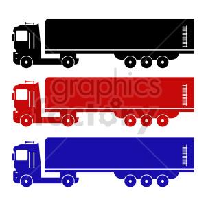 semi trucks vector clipart set clipart. Commercial use image # 416570