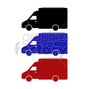 clipart - box trucks vector clipart set.
