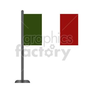 clipart - italian flag vector graphic.