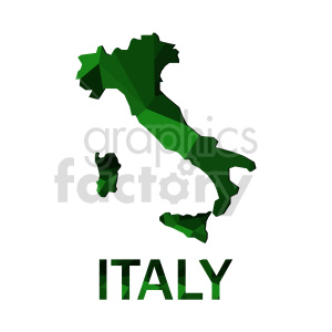 green italy flag vector clipart clipart. Commercial use image # 416640