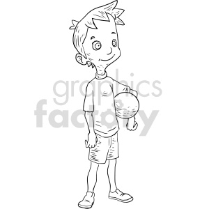 kid holding ball clipart clipart. Commercial use image # 416661