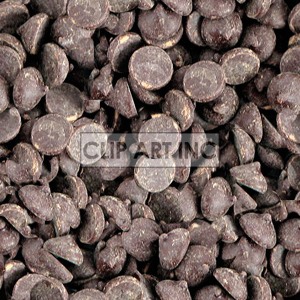 chocolate chips background. Royalty-free background # 128195
