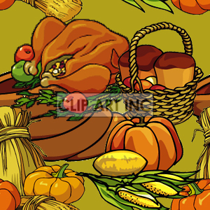 background backgrounds tiled bg thanksgiving pumpkin pumpkins turkey turkeys   102905-fall-harvest Backgrounds Tiled