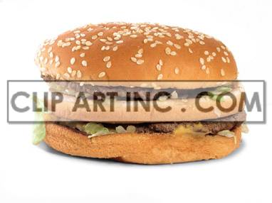 Double cheeseburger clipart. Royalty-free image # 176933
