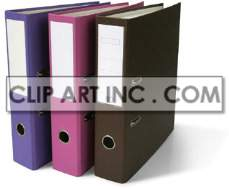 black pink and blue binders  photo. Royalty-free photo # 177411