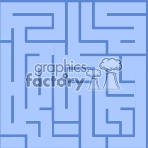 Square blue maze background background. Royalty-free background # 371315
