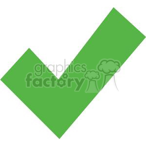 green check mark clipart. Royalty-free image # 377769