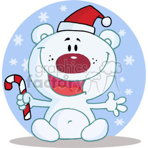 A White Bear Excited About Christmas clipart. Commercial use image # 377852