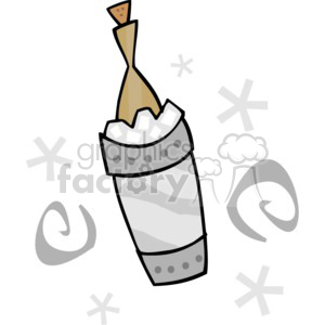 Bottle of champagne clipart. Commercial use image # 145223