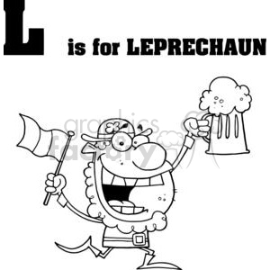L as in Leorechaun clipart. Commercial use image # 377920