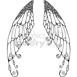 Royalty Free Fairy Wings 380198 Vector Clip Art Image
