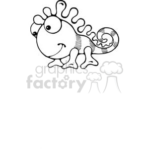 baby Chameleon clipart. Royalty-free image # 380213