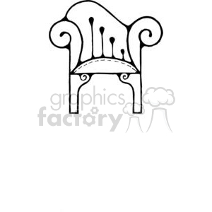 cartoon black white chair chairs