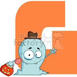 2751-Funny-Cartoon-Alphabet-G clipart. Royalty-free image # 380268