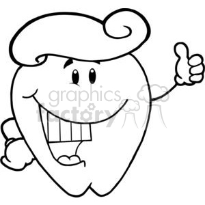 2955-Smiling-Tooth-Cartoon-Character-With-Toothpaste clipart. Commercial use image # 380273