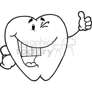 2940-Smiling-Tooth-Cartoon-Character clipart. Royalty-free image # 380283