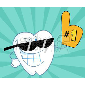 happy cartoon teeth clipart. Royalty-free image # 380308