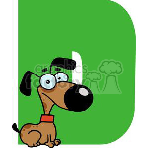 2748-Funny-Cartoon-Alphabet-D clipart. Commercial use image # 380338