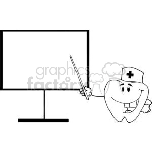 2984-Doctor-Tooth-Shows-A-Pointer-On-A-Board clipart. Royalty-free image # 380343