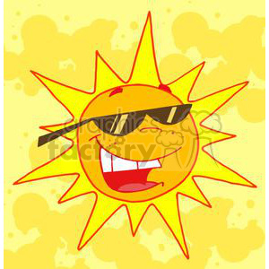 hot sun cartoon character  clipart. Royalty-free image # 380358