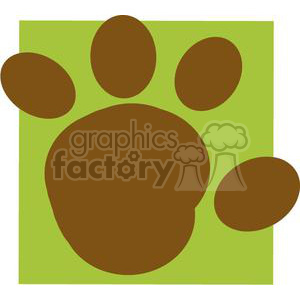 2779-Cartoon-Brown-Paw-Print clipart. Commercial use image # 380368