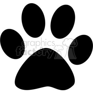 2771-Black-Paw-Print clipart. Commercial use image # 380373