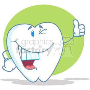 2942-Smiling-Tooth-Cartoon-Character clipart. Royalty-free image # 380403