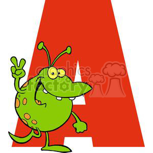 2745-Funny-Cartoon-Alphabet-A clipart. Commercial use image # 380408