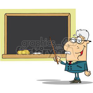 2994-School-Professor-Displayed-On-Chalk-Board clipart. Royalty-free image # 380438