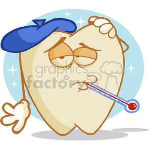 cartoon tooth ache clipart. Commercial use image # 380458