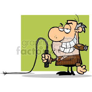 2806-Big-Boss-With-A-Whip-In-His-Hand clipart. Commercial use image # 380468