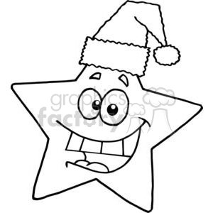 3013-Happy-Chrismas-Star-Smiling clipart. Royalty-free image # 380483