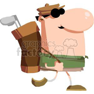 2807-Walking-Golfer-Carries-Club clipart. Royalty-free image # 380518