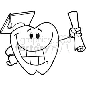 2967-Successful-Graduate-Tooth-Holding-A-Diploma clipart. Commercial use image # 380523