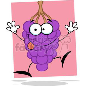 Cartoon dancing grapes clipart. Royalty-free image # 380528
