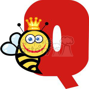 2761-Funny-Cartoon-Alphabet-Q clipart. Commercial use image # 380543