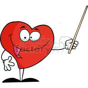 2917-Red-Heart-Holding-A-Pointer clipart. Royalty-free image # 380548