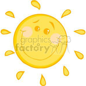 cartoon sunny sun clipart. Royalty-free image # 380553