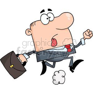 3241-Businessman-Wearing-A-Business-Suit-And-Carrying-A-Briefcase-To-Work clipart. Royalty-free image # 380587