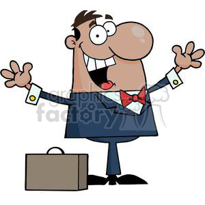Happy Businessman clipart. Commercial use image # 380622