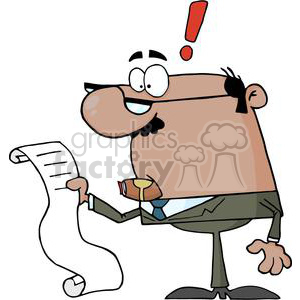 Businessman-Reviewing-Big-Bill clipart. Royalty-free image # 380687